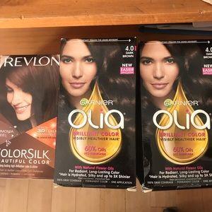 Brown Hair Dye 3 New In Boxes Revlon & Garnier